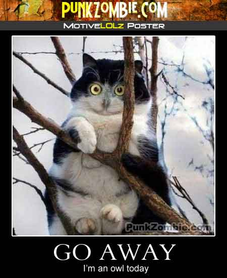 Demotivational Poster: Go Away