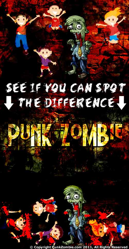 punk zombie comic: spot the difference