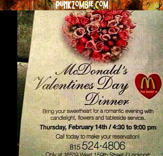 Special valentine day dinner