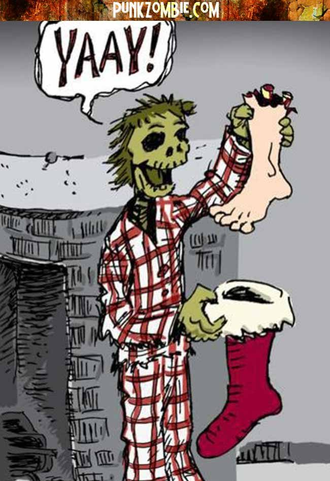 Zombie at Christmas - Punk Zombie
