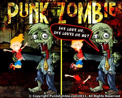 Zombie Comic: She loves me, She loves me not
